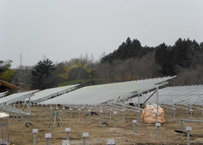 Reliable Structure Ground Mount Solar System Easy & Fast Installation